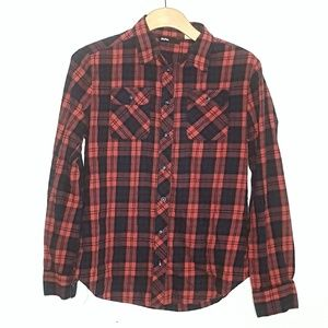 BDG Plaid Button Down Long Sleeve Shirt SZ Small